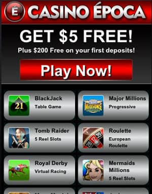 Casino Epoca Mobile Screenshot