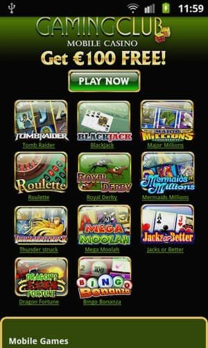 Gaming Club Mobile mobile Android Games Preview