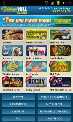 william hill mobile games